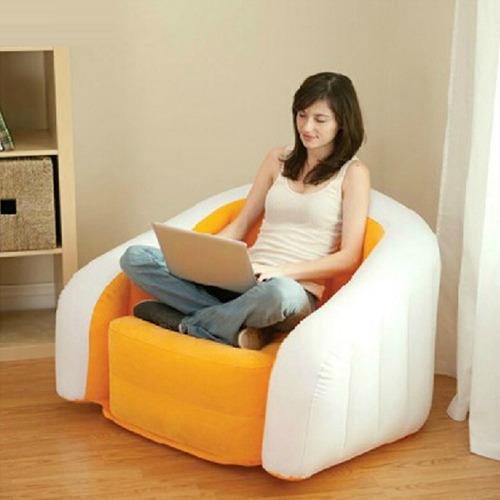 poltrona decorativa sofá inflável puff praia intex 68571