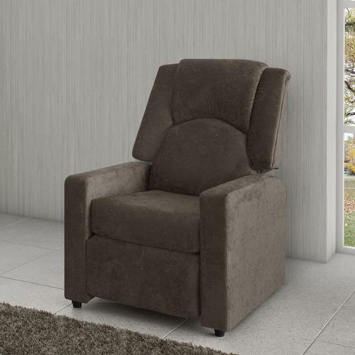 poltrona do papai reclinável american comfort suede