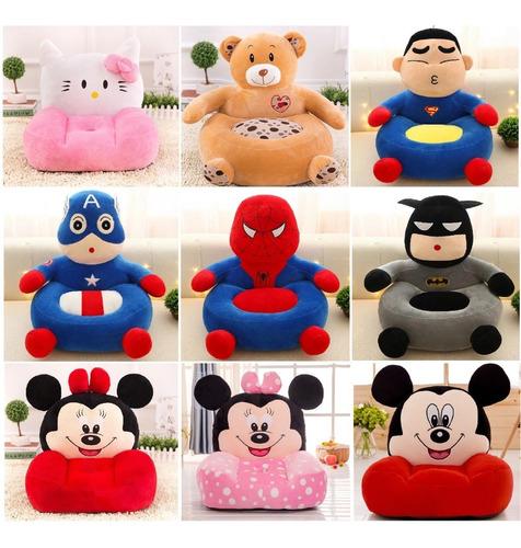poltrona infantil mini sofá puff minnie mickey super herois