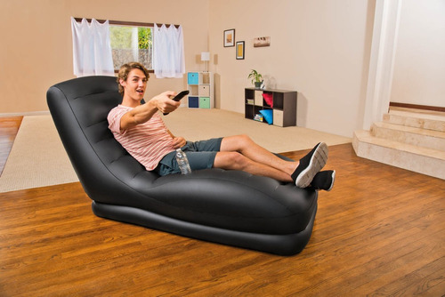 poltrona inflável intex mega lounge com bomba - sofá