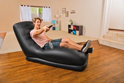 poltrona inflável intex mega lounge - sofá - c/ porta copo