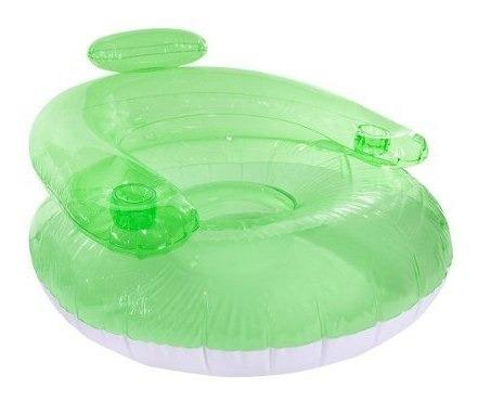 poltrona inflável miami com porta copo boia piscina nautika