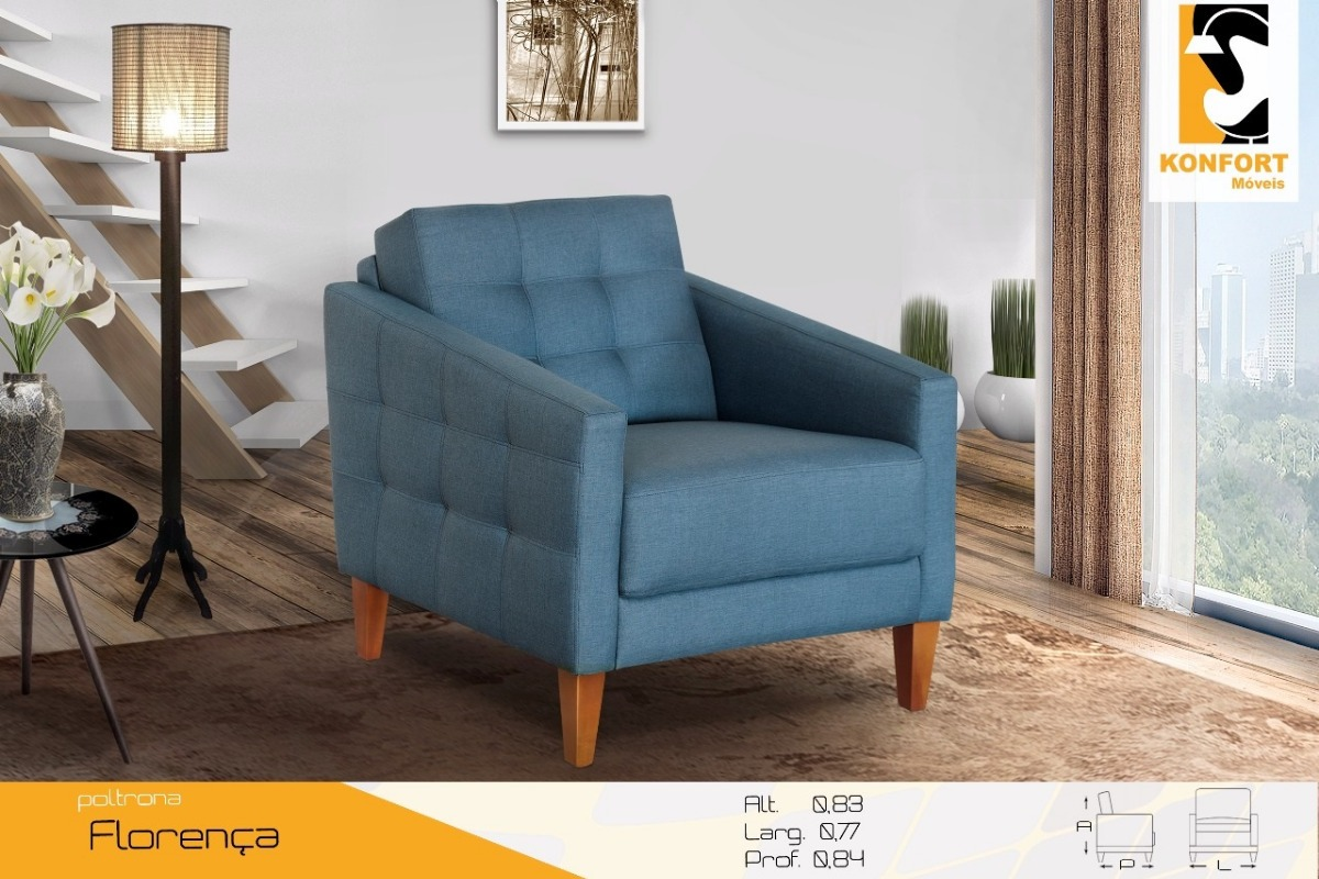 Poltrona Itália Decorativo Confortavel - Konfort - R  839 573d94e548032