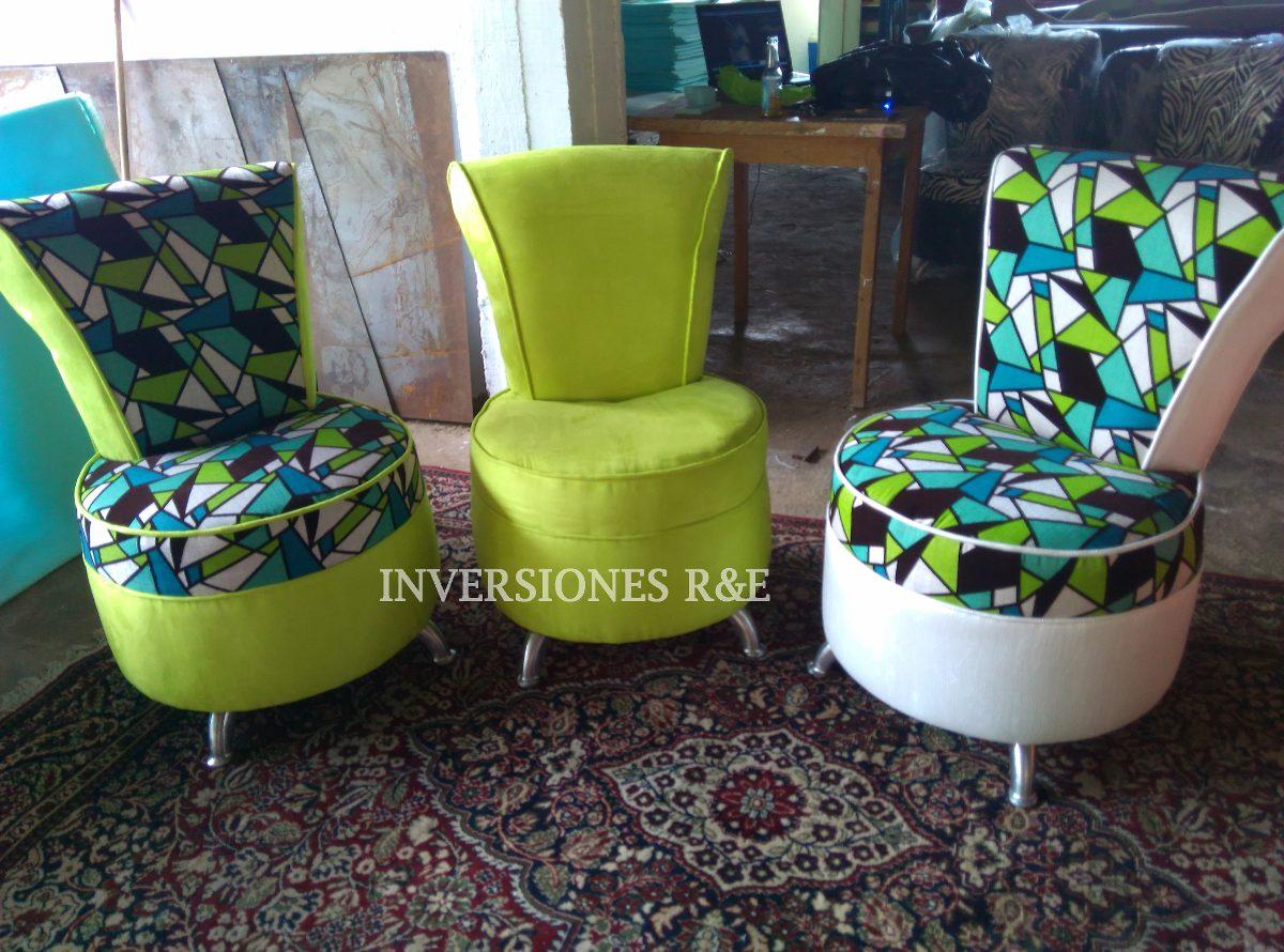 Poltrona Muebles Butaca Silla En Semicuero Y Tela Bs 125 000 00  # Muebles En Semicuero
