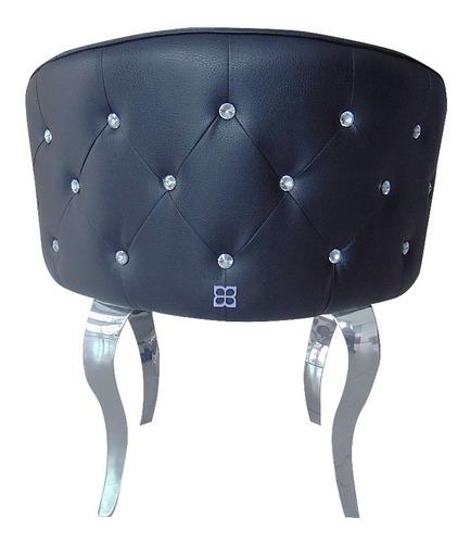 poltrona negra circular moderna umberto capozzi