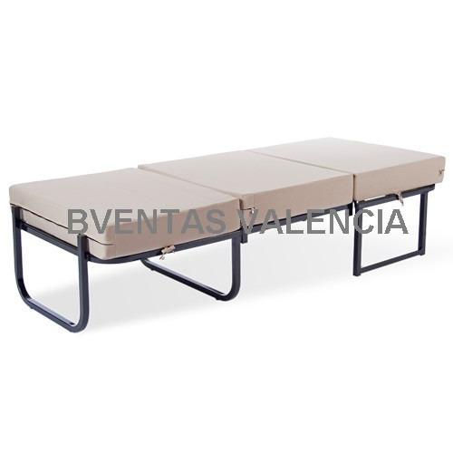 Poltrona puff cama individual c estructura metalica for Poltrona cama individual