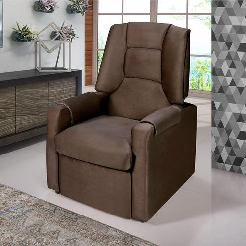 poltrona reclinável conde siena móveis marrom ie