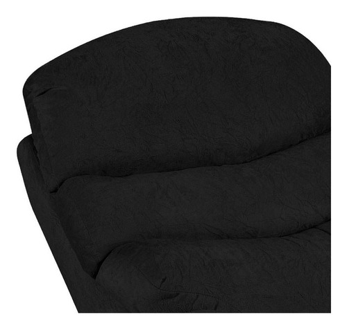 poltrona reclinável germany suede amassado preto