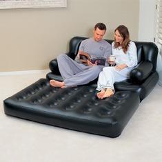 poltrona sofá cama colchão inflável multifuncional bestway