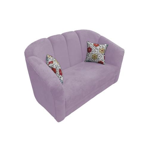 poltrona sofá namoradeira márcia suede lilás exclusivo