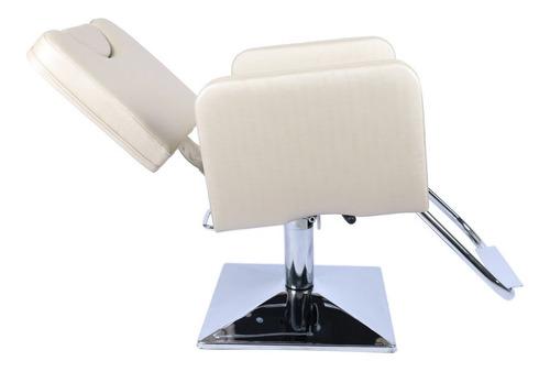 poltrona sofá reclinavel móveis cabeleireiro base quadrada