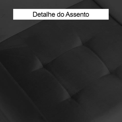 poltrona vitoria courino preto lançamento kasa sofa promoção