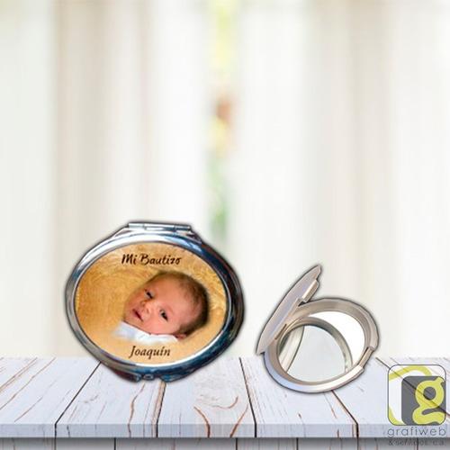 polvera espejo ovalada personalizada