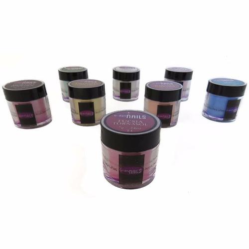 polvo acrílico easy nails 6 piezas más de 100 colores 7g c/u