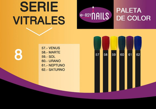 polvo acrílico easy nails más de 100 colores 7g c/u