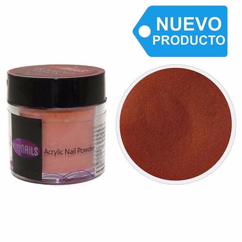 polvo acrílico para uñas color durazno red 7g easynails