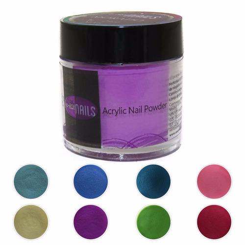 polvo acrílico para uñas color morado mate a 7g easy nails