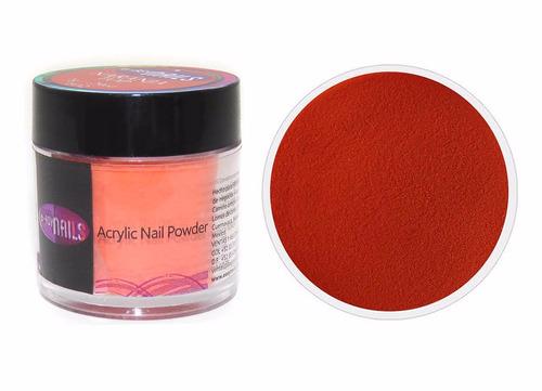 polvo acrílico para uñas color naranja top 28g easynails