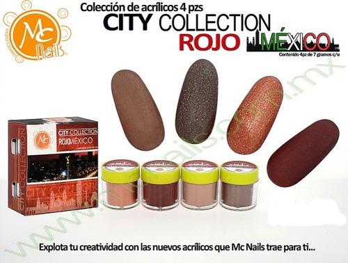 polvo acrílico, uñas, mc nails, colección city méxico