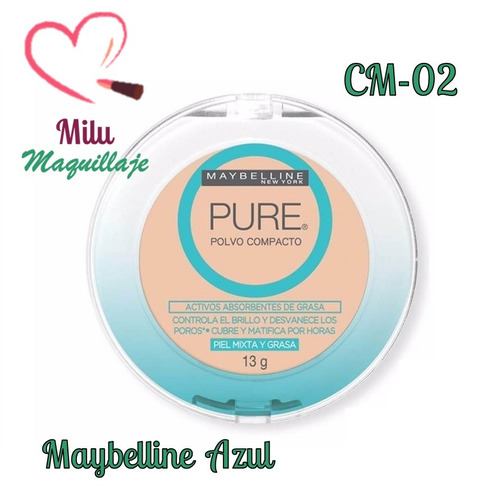 polvo compacto maybelline pure maquillaje mayor milu