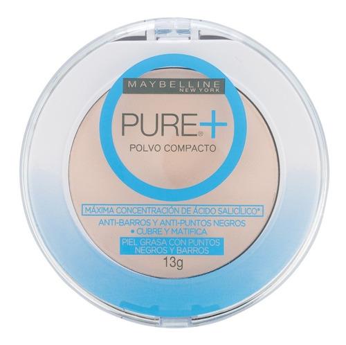 polvo compacto pure make up plus maybelline