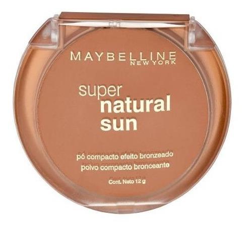 polvo compacto tonalizador super natural sun maybelline