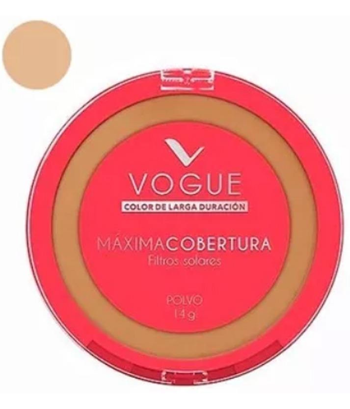 Polvo Compacto Vogue Con Max Cobertura X 14g.- Castaño - U S 2,90 en ... 5a39c39738