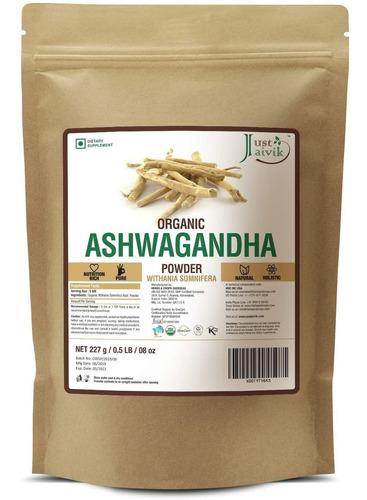 polvo de ashwagandha 100% orgánico - withania somnifera- cer