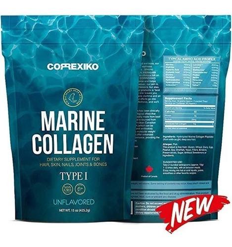 polvo de colágeno marino hidrolizado 15 oz articulaciones