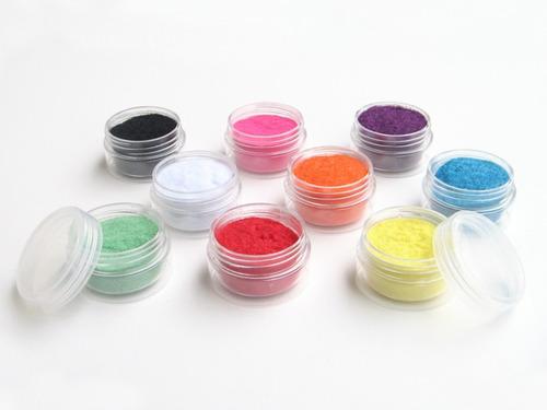polvo de terciopelo para manualidades kit x 9 colores