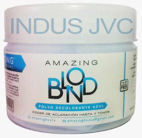 polvo decolorante amazing blond azul 200 gramos.