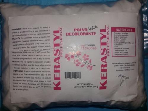 polvo decolorante blanco (500 g)