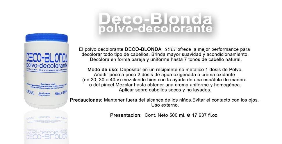 Polvo Decolorante Deco Blonda Sylt 500ml Oferta 48900 En