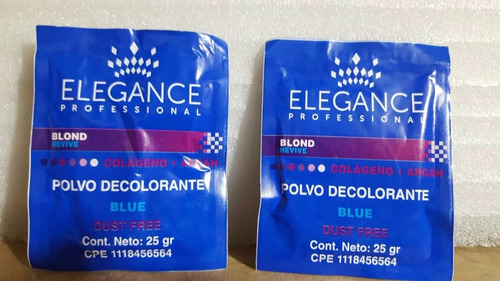 polvo decolorante elegance x 2 uds
