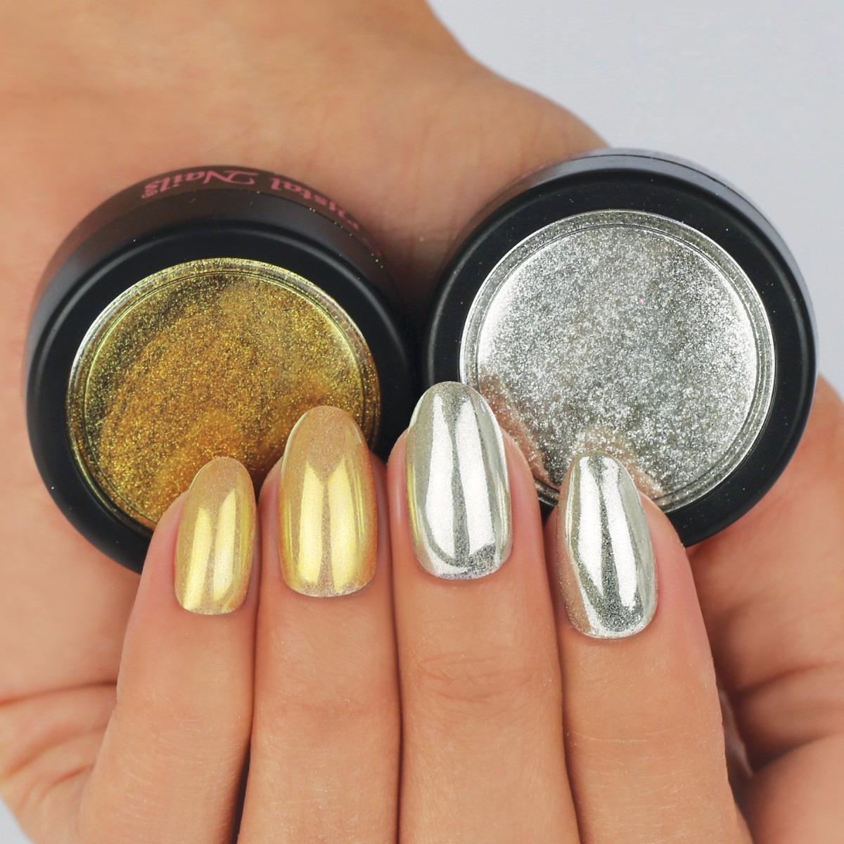 Polvo Efecto Espejo Para Uñas Todos Los Colores - $ 149,00 en ...