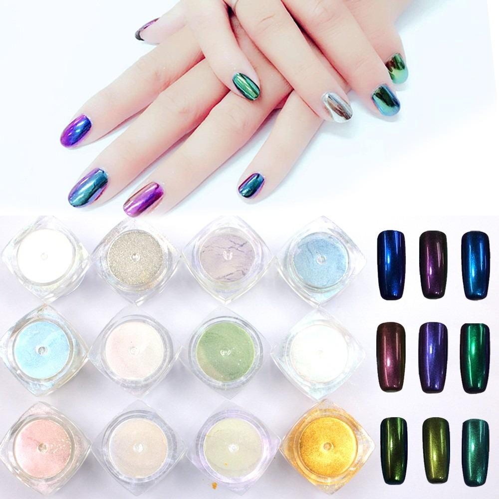 Polvo efecto espejo xl profesional 12 colores u as gelish for Decoracion copa efecto espejo