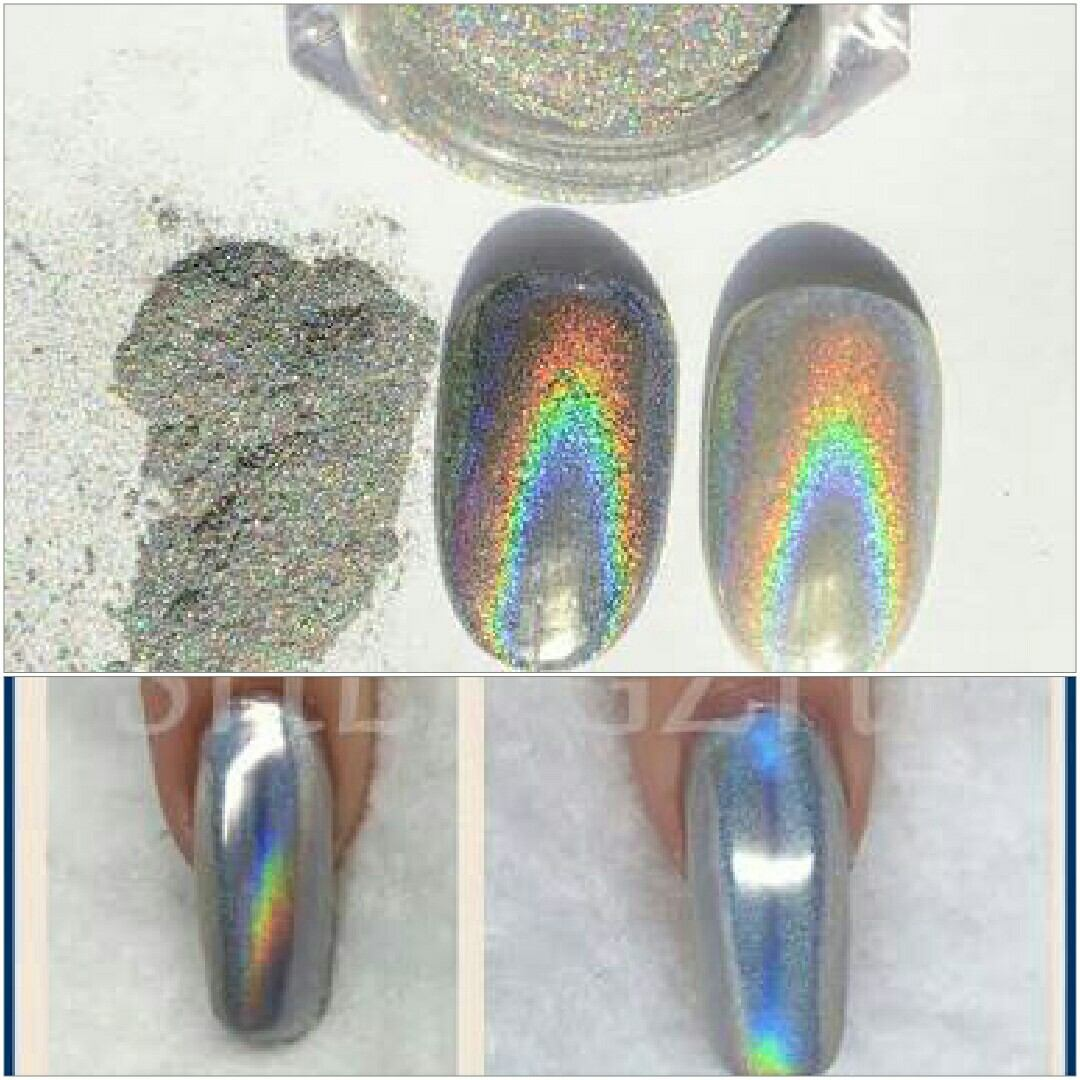 Polvo Espejo Holografico Uñas Acrilicas Gelish Holograma - $ 360.00 ...