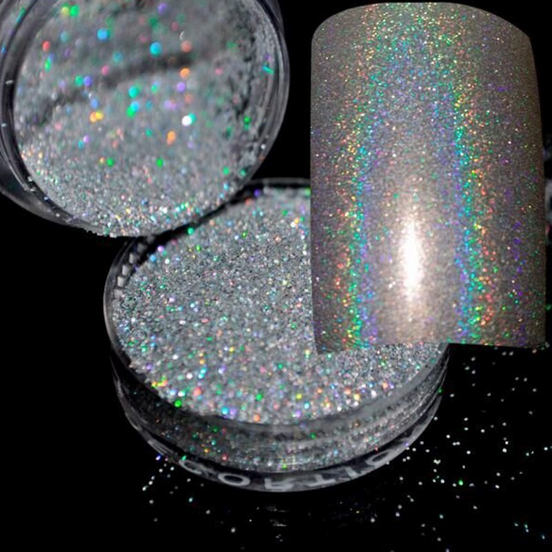 Polvo Espejo Holografico Uñas Acrilicas Gelish Holograma - $ 100.00 ...