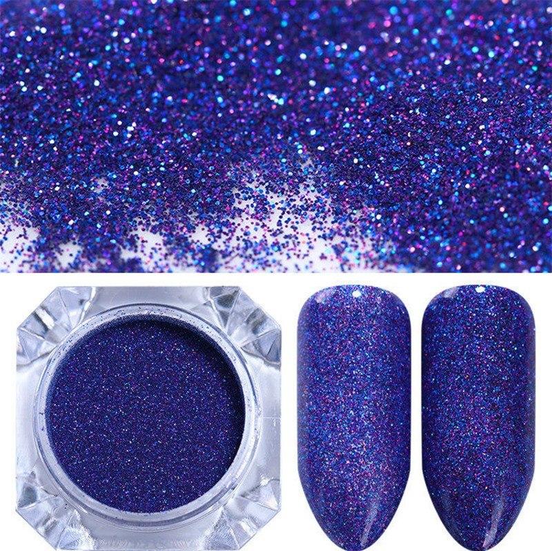 Polvo Gibre Glitter Azul Electrico Uñas Labios Ojos