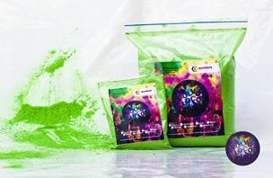 polvo holi - kit carnavalero (5colores) promoción