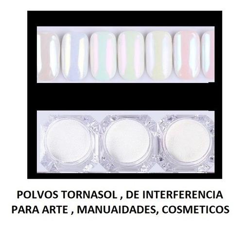 polvo iridiscente tornasol interferencia purpurina arte manualidades  cosmeticos
