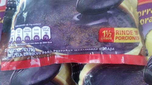 polvo para preparar mazamorra morada peruana en colombia