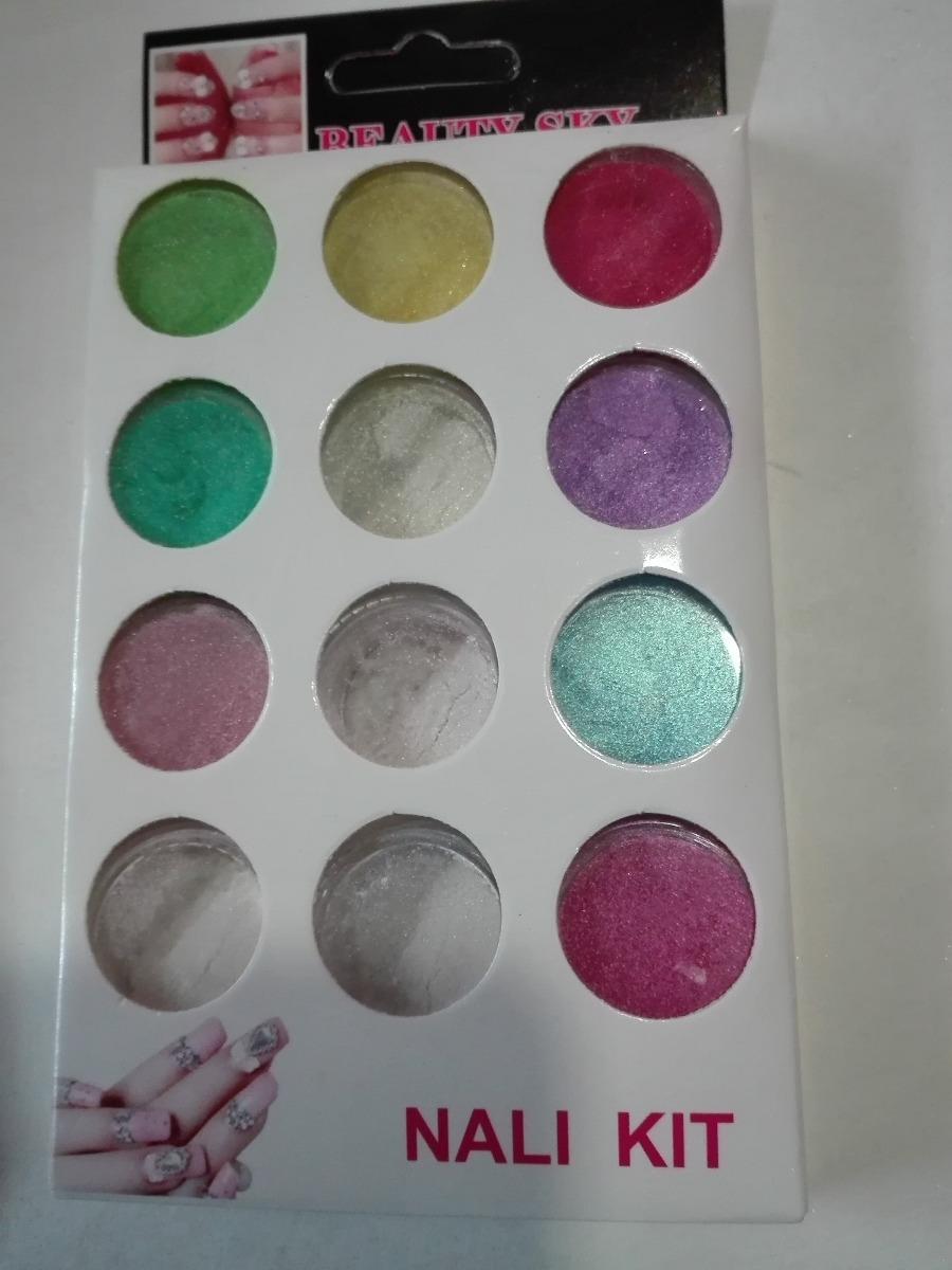 Polvo pigmentos u as efecto espejo 12 piezas diferentes en mercado libre Polvo espejo unas