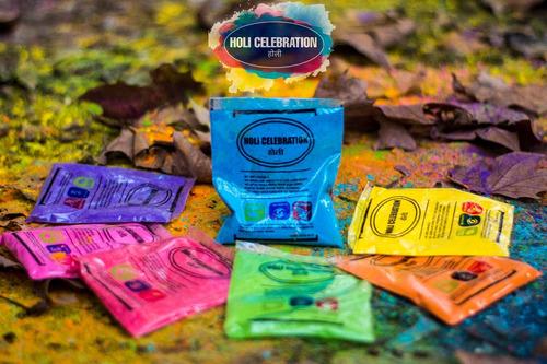 polvos colores holi celebration pack x 300 sobres