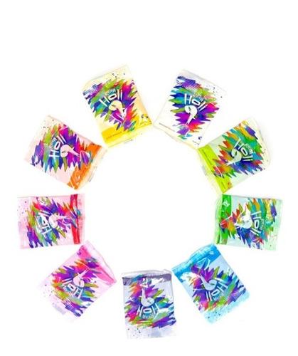 polvos de colores holi colors - pack x1000