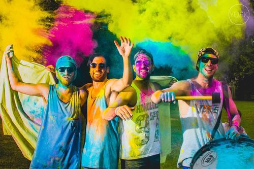 polvos de colores holi colors - pack x30