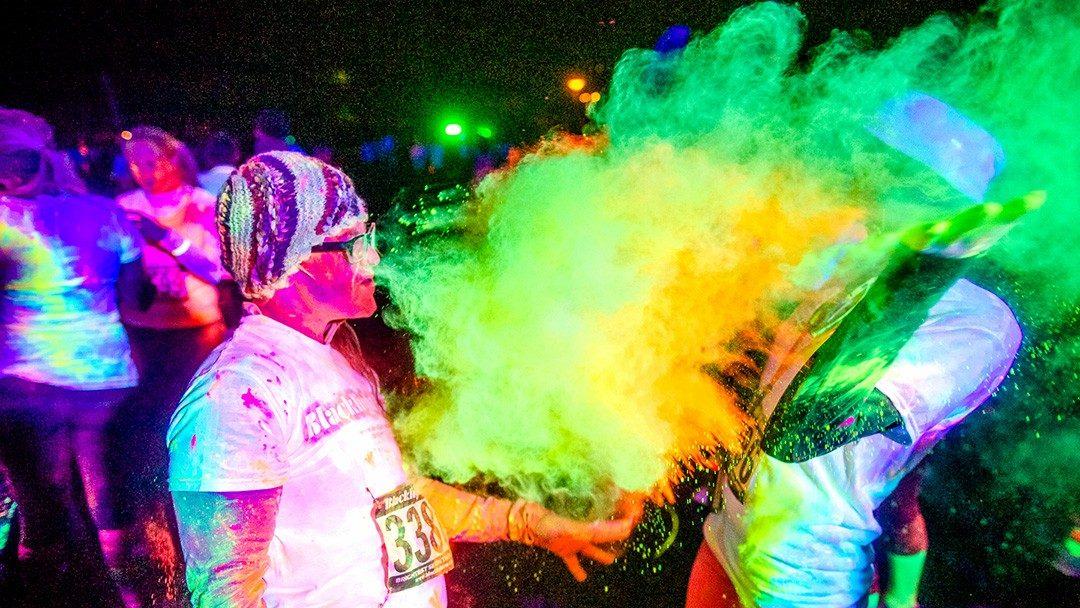 Resultado de imagen para fiesta de neon polvo