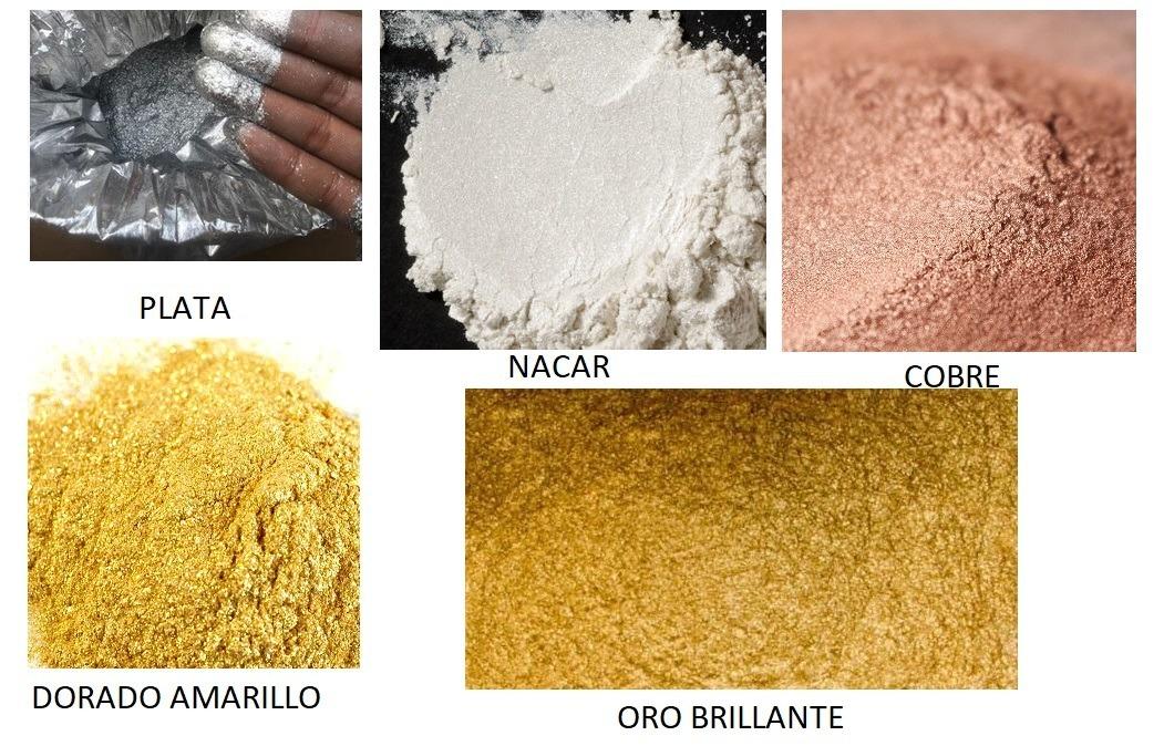 Polvos Metalicos Oro Plata Cobre Nacar Arte Belleza - $ 69.00 en ...