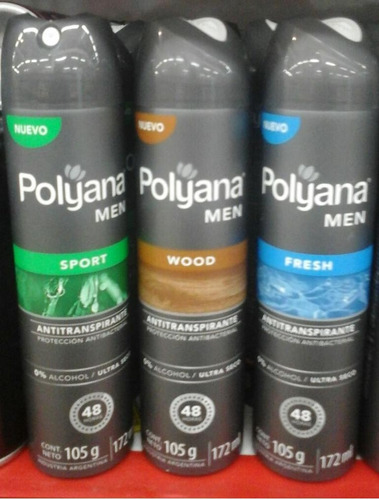 polyana antitranspirante  172ml men fresh, sport, wood