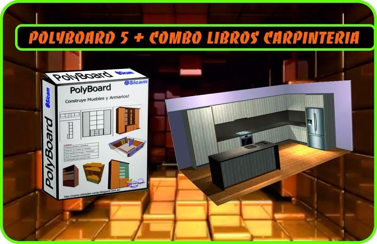 Polyboard 5 6 programa de dise o cocinas closet bonus for Programa para disenar closet y cocinas
